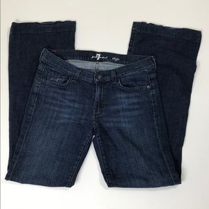 7 for all Mankind Dark Wash Dojo Jeans Wise Leg 28